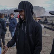Vinicius Junior e Rodrygo (Real Madrid) foram ver as ondas gigantes da Nazaré