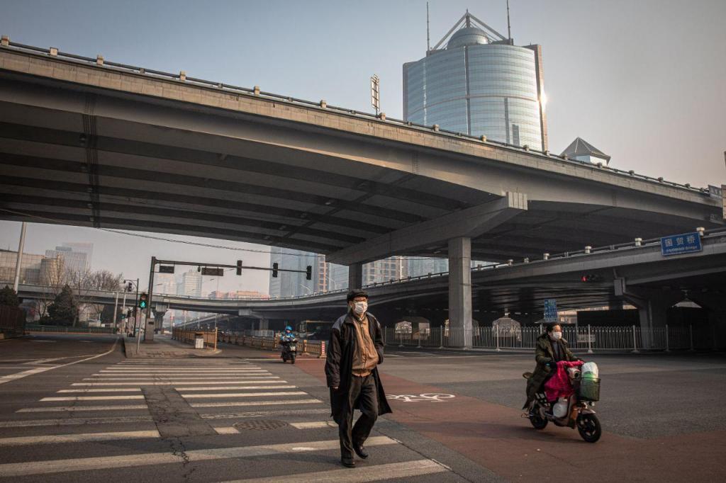 Ruas da China vazias
