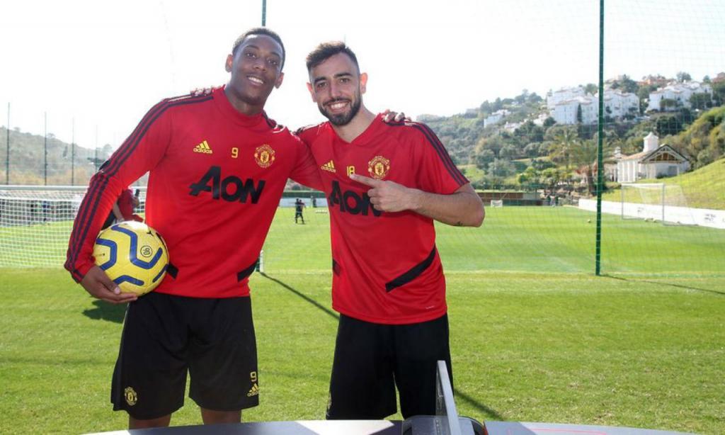Bruno Fernandes e Martial