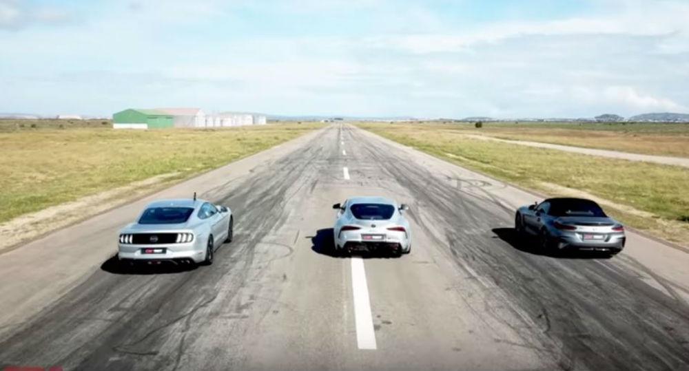 Toyota Supra, BMW Z4, Mustang GT  (Reprodução Youtube Carmag)