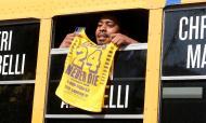 Última homenagem a Kobe Bryant, no Staples Center, a 24 de fevereiro (AP)
