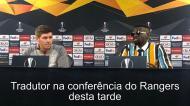 Tradutor português rouba a cena em conferência de imprensa de Gerrard