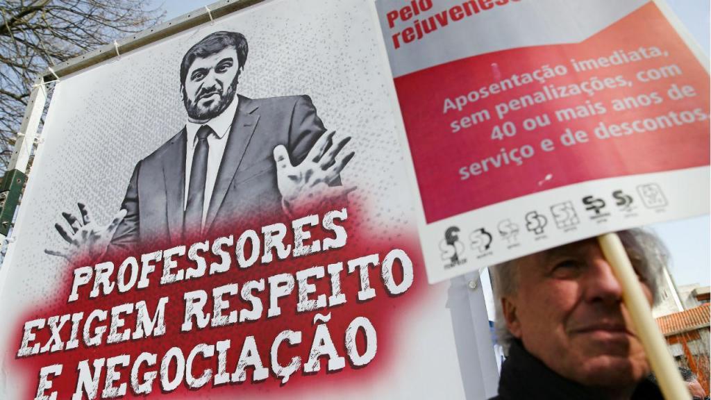 Manifestação de professores em Bragança