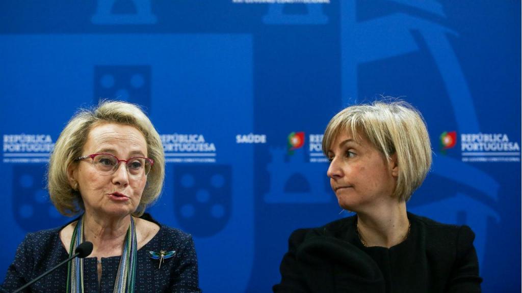 Graça Freitas, diretora-geral da Saúde, e Marta Temido, ministra da Saúde, em conferência de imprensa sobre o coronavírus em Portugal