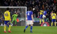 Leicester-Birmingham: Ricardo Pereira marca o golo da vitória (Nick Potts/AP)