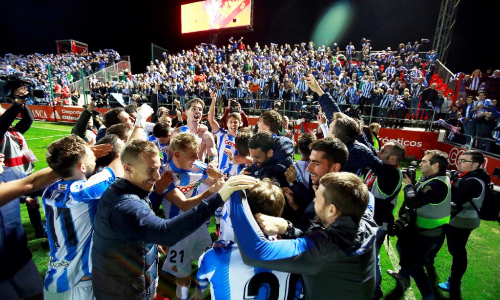 Real Sociedad na final da Taça do Rei (Santi Otero/EPA)