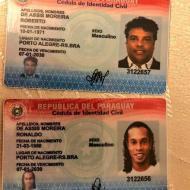 Ronaldinho detido no Paraguai (Ministério Público Paraguai)
