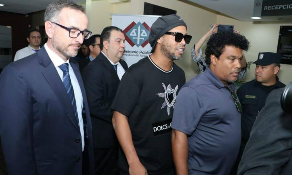 Ronaldinho (foto Ministério Público do Paraguai)