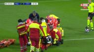 VÍDEO: Mukiele fica muito maltratado depois de levar com a bola na cara
