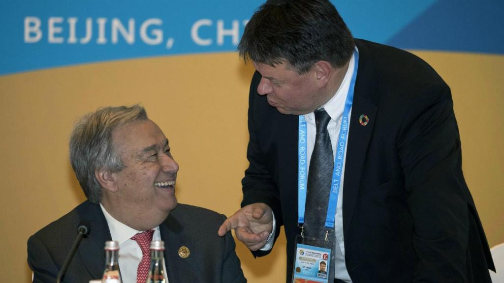 António Guterres e Petteri Taalas