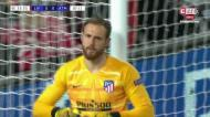 VÍDEO: grande defesa de Oblak a evitar o primeiro do Liverpool
