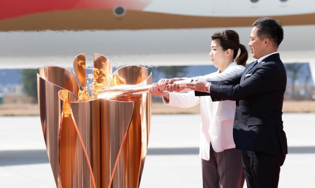 Tocha olímpica chegou ao Japão (foto Tokio2020)