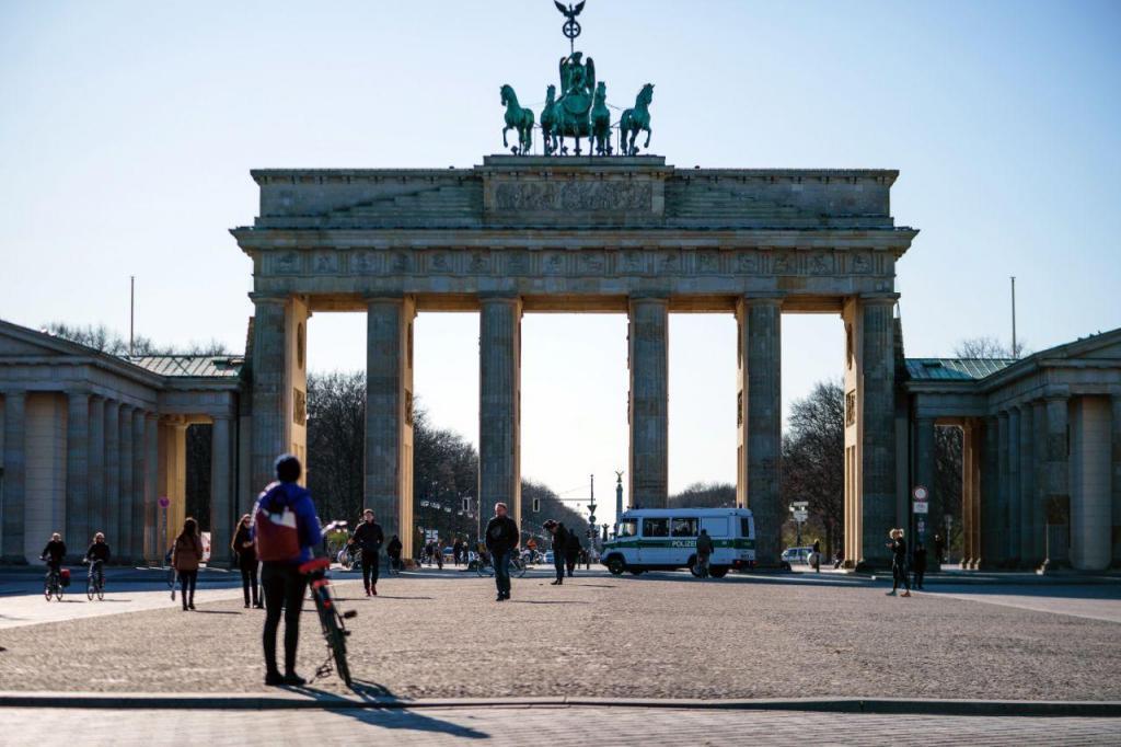 Berlim está deserta devido às medidas para combater o novo Coronavírus