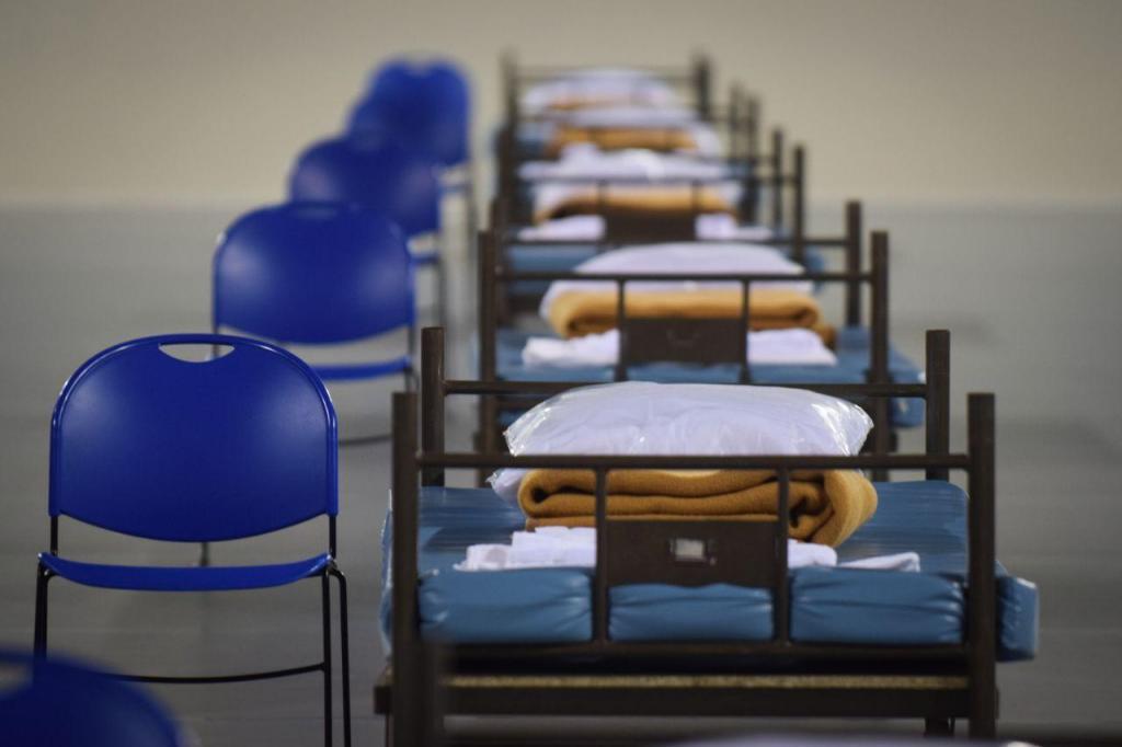 Centro de Badminton das Caldas da Rainha transformado em hospital de campanha