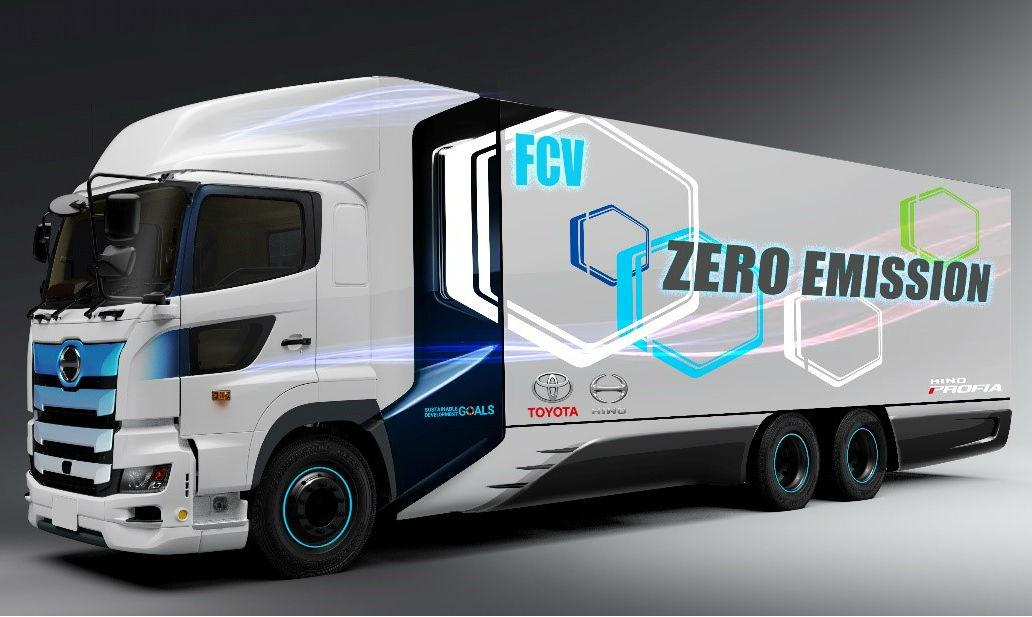 Camião FCEV da Toyota e da Hino