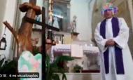VÍDEO: padre celebra missa online com os filtros de máscara ativos (twitter)