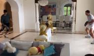 VÍDEO: isolamento? Djokovic mostra como jogar ténis em casa (twitter)