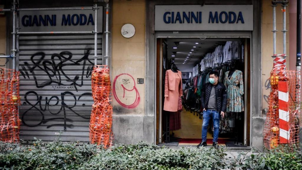 Loja chinesa em Itália