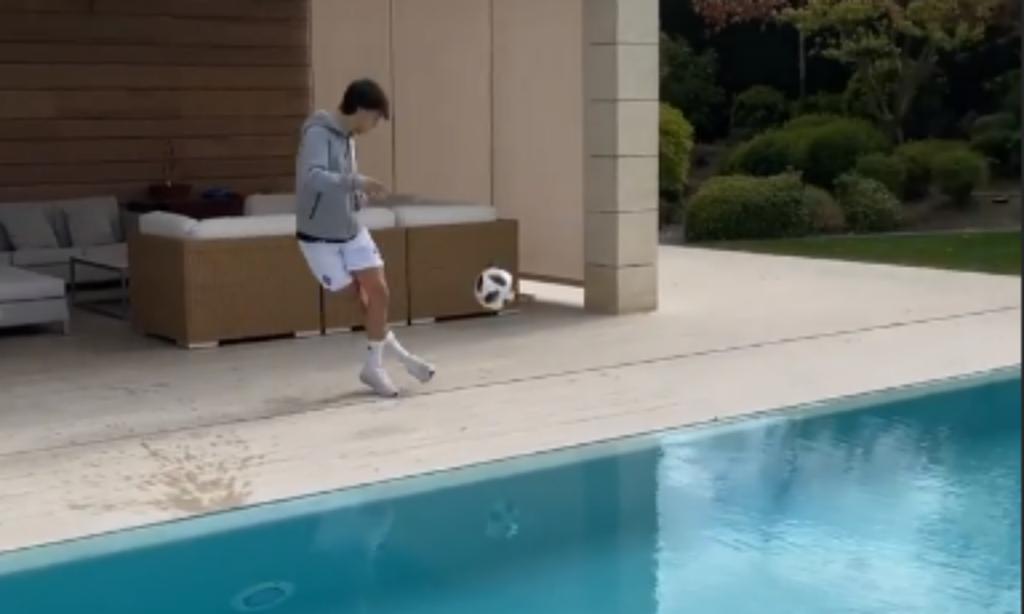 VÍDEO: Félix eleva o nível no desafio da bola na barra (instagram Félix)