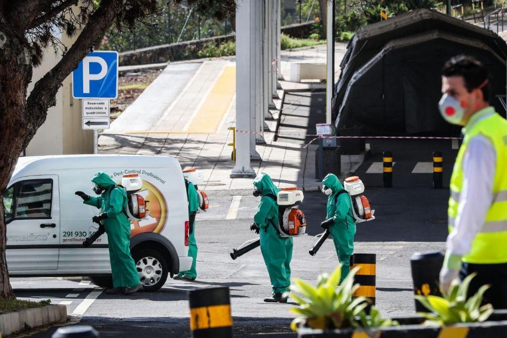 Desinfeção do Hospital do Funchal