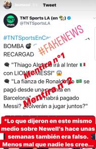 Messi nega associação para transferência para o Inter