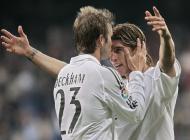 David Beckham dá um beijo na testa de Sergio Ramos