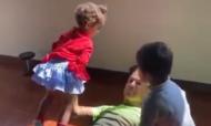 Cristiano Ronaldo com os filhos (instagram)