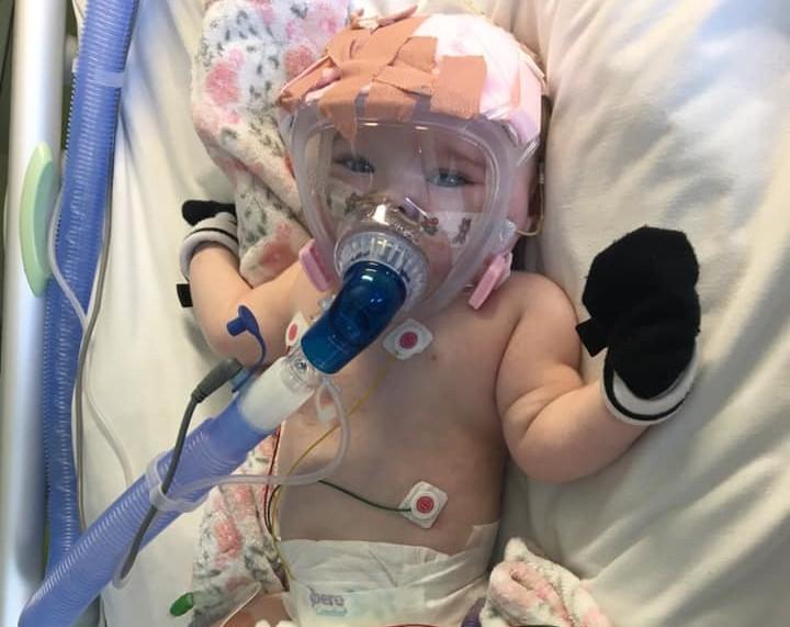 Erin tem seis meses e foi infetada com Covid-19