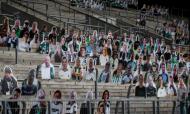 Adeptos do Monchengladbach pagam figuras em cartão para encher estádio à porta fechada