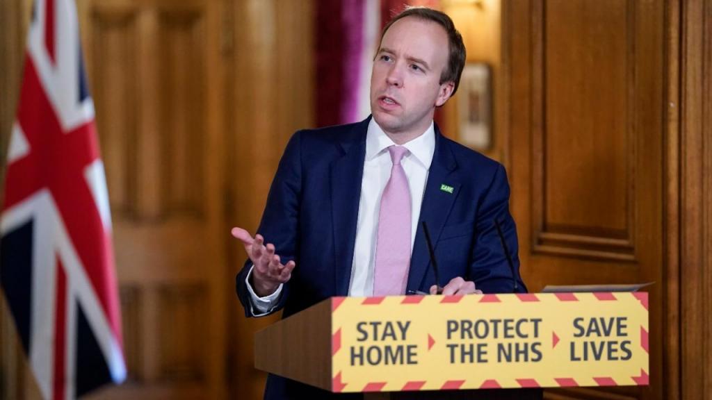 Matt Hancock, ministro da Saúde britânico