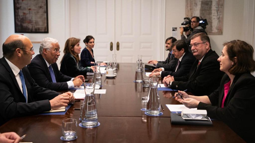 Primeiro-ministro António Costa recebe delegação da UGT no palácio de São Bento