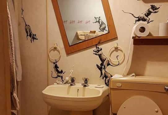 Mais recente obra de Banksy