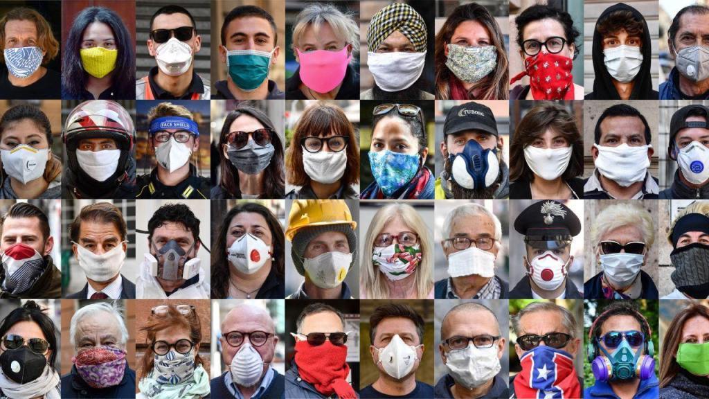 Covid-19: os rostas pelas ruas de Itália