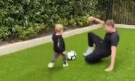 Steven Gerrard e o filho Lio