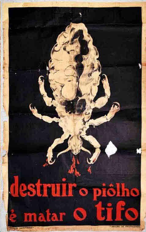 Arquivo Ephemera: cartaz sobre epidemias anos 20-30