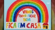 As mensagens das crianças transmitida num arco íris