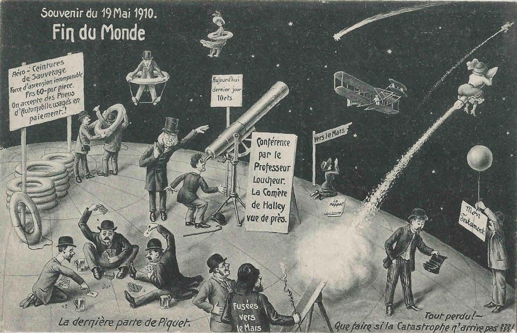 Arquivo Ephemera: postais de 1910 (cometa Halley)