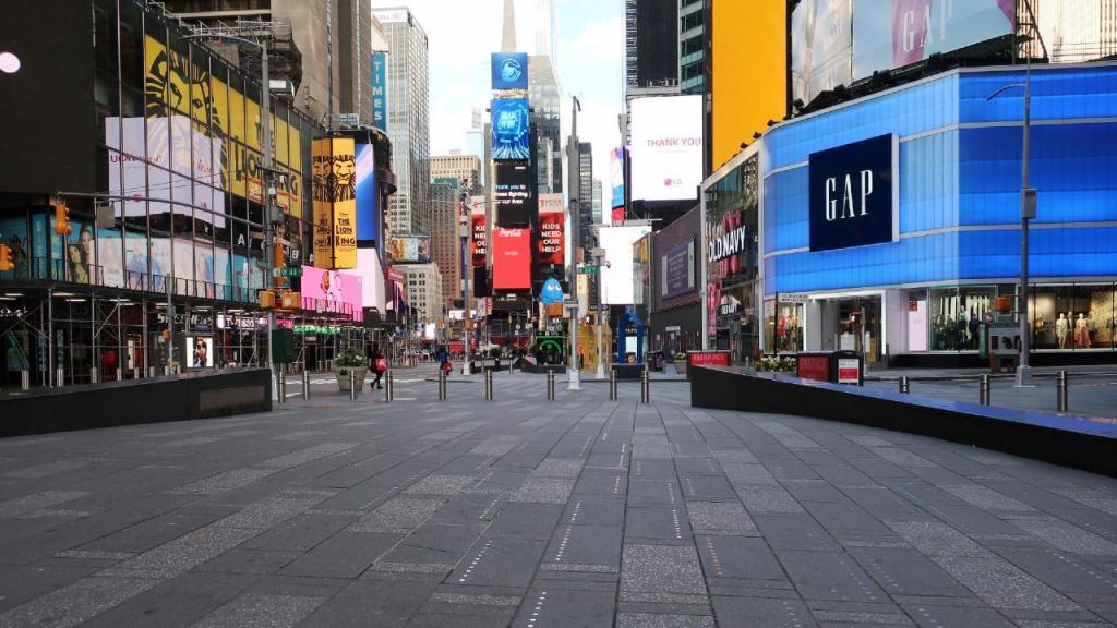 Times Square em tempos de Covid-19