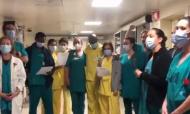 VÍDEO: médicos e enfermeiros juntam-se para cantar «Grândola, Vila Morena» (twitter SNS)