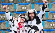 Valquirio Barcelos e Belchior Botelho, adeptos do Santa Clara (Foto: Liga Portugal(