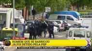 Homem barricado após atacar empregada com catana em Lisboa