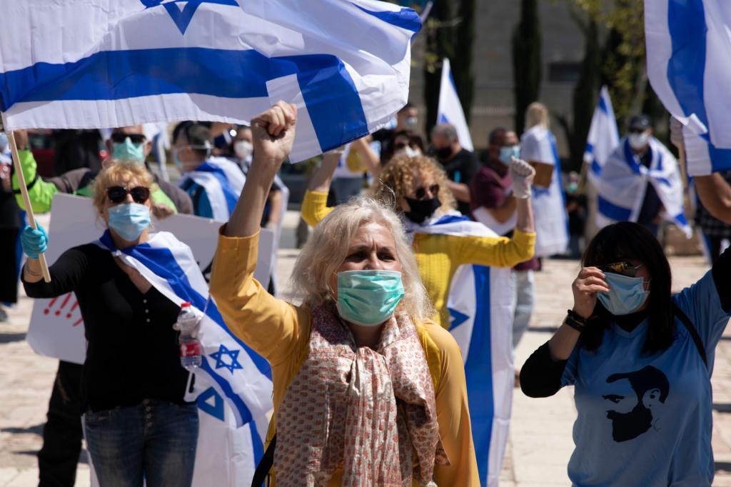Manifestação pró-Netanyahu