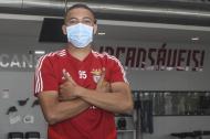 Regresso ao Seixal: jogadores fizeram testes físicos (fotos SLB)