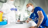 Futebolistas do FC Porto testados à covid-19 à entrada do Centro de Treinos do Olival (FC Porto)