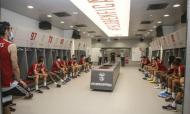 Vieira foi ao balneário (fotos: SL Benfica)