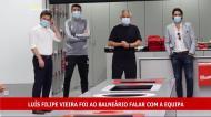 Máscaras no balneário do Benfica: Vieira falou aos jogadores
