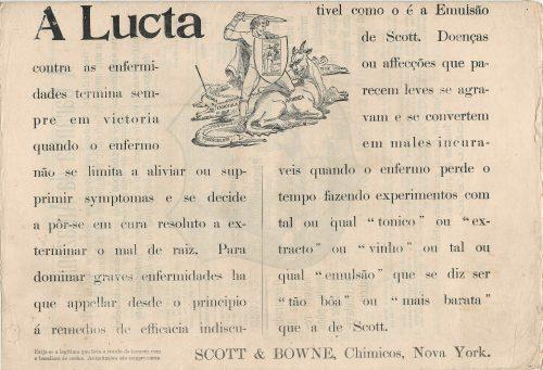 Arquivo Ephemera: anúncio de farmácia (século XIX)