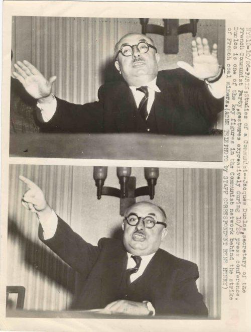 Arquivo Ephemera: Jacques Duclos (Partido Comunista Francês)