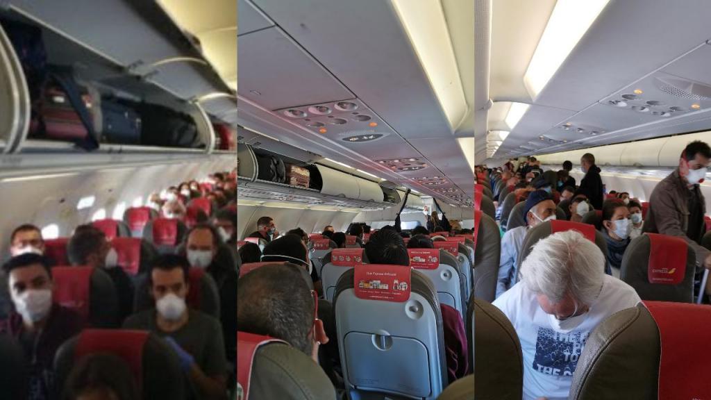 Passageiros chocados ao entrarem em avião da Iberia praticamente ...