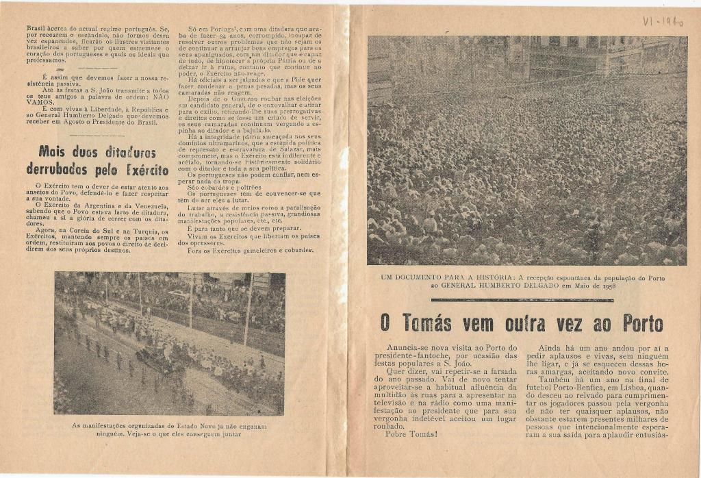 Arquivo Ephemera: resistência à ditadura do Estado Novo - 1958